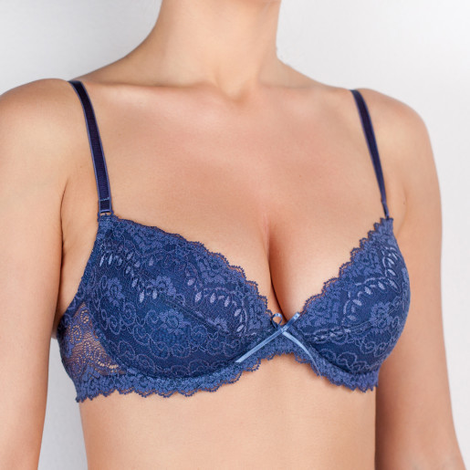 sutien push up indigo