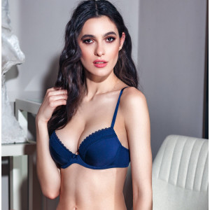 sutien push up bleumarin